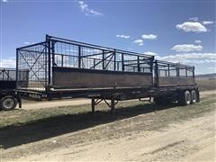 1984 Hobbs 80K-45 T/A Flatbed Trailer W/Beet Baskets