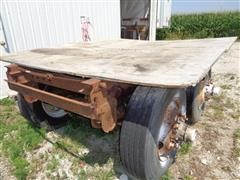 Homemade Rolling Shop Table on Wheels
