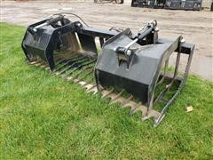 "Brute 84"" Wide Rook/Brush Grapple Skid Steer Attachment"