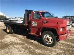 1994 Ford F600 Flatbed Truck