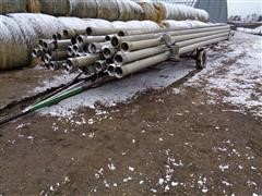 """Lindsay 6"""" X 30' Aluminum Main Line Pipe With Pipe Trailer"""