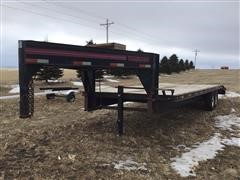 1996 Travalong Gooseneck T/A Flatbed Trailer