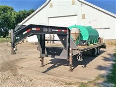2007 Load Max 25' GN T/A Flatbed Trailer