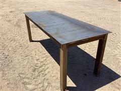 Shop Built Work Table