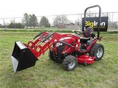 2018 Mahindra EXL224FHILM MFWA Compact Utility Tractor W/Loader & Mower