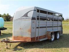 1994 Hillsboro 6x16 T/A Livestock Trailer