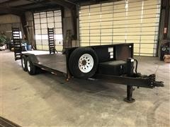 2010 Shop Built 20' T/A Flatbed Trailer W/Side Dump Front Section