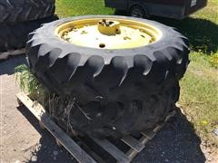 John Deere 15.5-38 Rims W/Goodyear Tires