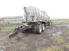 1976 Heil & Fontaine Dolly Liquid Manure T/A Tanker, Dolly, & Applicator
