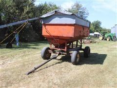 4 Wheel Gravity Wagon W/Extension Top And Tarp