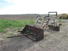 Gb 800 Front End Tractor Loader With 7' Smooth Edge Bucket