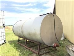 1000-Gallon Stationary Fuel Tank On Stand
