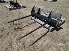 2017 Mahindra KBSSSFDS Double Front Hay Spear Skid Steer Attachment