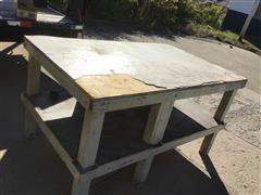 Shop Built 4x4' Ply Wood Table