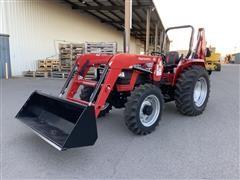 2018 Mahindra 5570 MFWD Compact Utility Tractor W/Loader & Backhoe