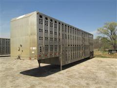 1987 Chamberlin Aluminum T/A Livestock Trailer