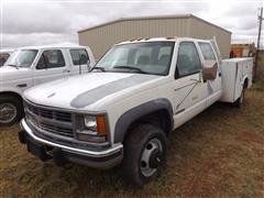 2000 Chevrolet 3500 4x4 Crew Cab Pickup W/Utility Bed
