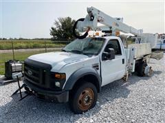 2008 Ford F550XL Super Duty 4x4 Crew Cab Bucket Truck