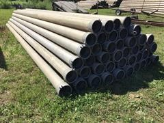 "Hastings Irrigation Pipe Co Aluminum 8"" Main Line Irrigation Pipe & Additional 8"" Gated Pipe"