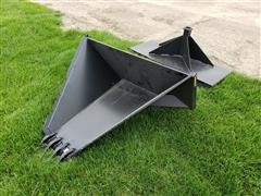 Tomahawk Skid Steer Stump Bucket & Receiver Hitch