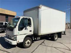 2006 Isuzu Tilt Cab Cargo Box Truck W/ 2 Spray Systems