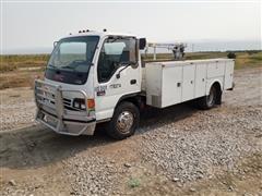 2002 GMC W4500 2WD Service Truck W/Auto Crane