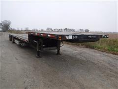 2000 Fruehauf 48' T/A Drop Deck Trailer W/ Aluminum Ramps