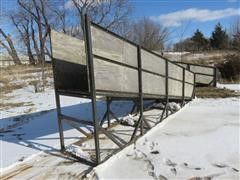 Shop Built 18' Livestock Loading Chute/Ramp
