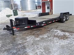 2013 Dressen ST21-14 Tilt-Bed Bumper Hitch T/A Trailer