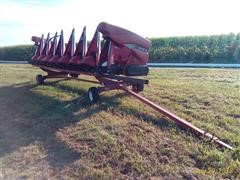 2004 Case IH 2208 Corn Header & Unverferth Header Trailer