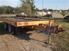 1973 Hyster 20 Ton T/A Flatbed Equipment Trailer