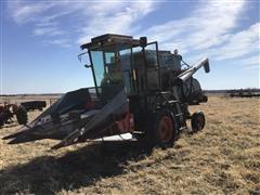Gleaner A-II Combine With Corn Head