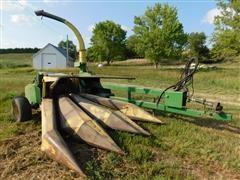 John Deere 3940 Pull Type Harvestor & 2 Heads