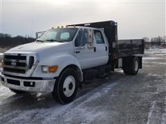 2008 Ford F650 Crew Cab Dump Truck