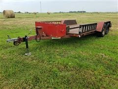 2009 Homemade T/A Flatbed Trailer