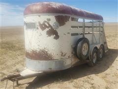 1996 Homemade 5 X 14 Trailmaster T/A Livestock Trailer