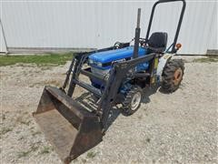 1989 Ford 1120 FWA Utility Tractor With SMC 64Q Loader