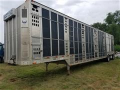 2000 Barrett T/A Double-Deck Livestock Trailer