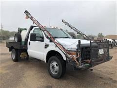 2010 Ford F350 XL Super Duty 4x4 Flatbed Pickup With Sprayer