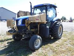 2004 New Holland TS115A VP 2WD Tractor W/Tiger Side & Rear Mower Attachment
