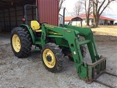 1999 John Deere 5410 MFWD Tractor W/Loader