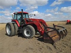2005 Case International MXM190 Row Crop Tractor With Case International LX172 Ag Loader With Bucket And Grapple