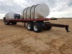 1978 Homemade 45' T/A Flatbed Trailer W/Tanks & Dolly