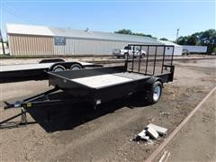 2015 D & K DKU-12-1 2 Wheel Flatbed Trailer