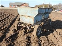 Grain Box On Old 4 Wheel Car Chassis