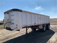 1997 East 28' T/A Aluminum End Dump Trailer