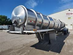2009 Polar SDX9 Stainless Steel T/A Tanker Trailer