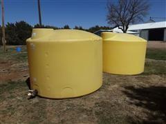 1500 Gallon Poly Storage Tanks