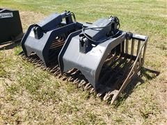 "Stout Heavy Duty 72"" Wide Brush Grapple Skid Steer Attachment"
