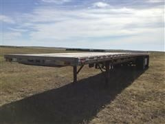 1995 Ravens 1448H66 T/A Spread Axle Flatbed Trailer